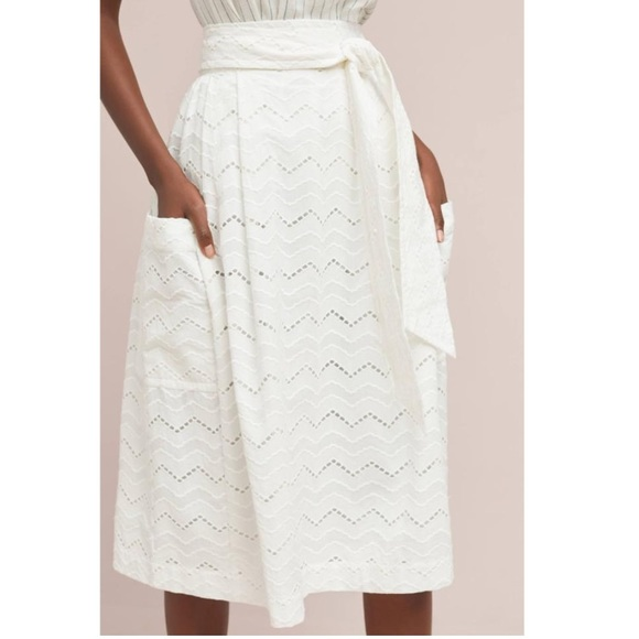 cfcf3d13c7 Anthropologie Skirts | X Tracy Reece Belted Waves Skirt 0 | Poshmark